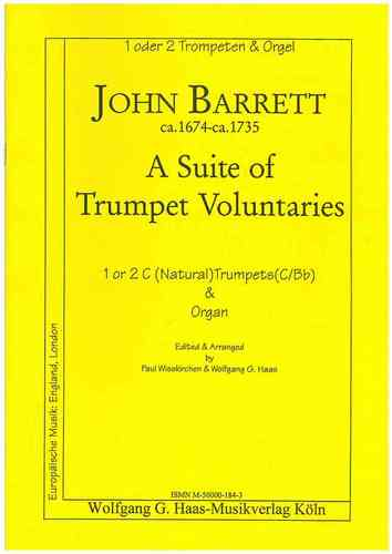 Barrett,John 1674c-1735; A Suite of Trumpet Voluntaries