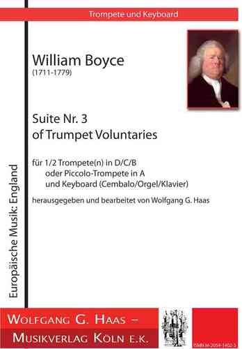 Boyce, William;Suite Nr. 3 of Trumpet Voluntaries; Trompete (D/C/A/B), Orgel