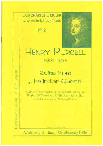 "Purcell, Henry, 1659-1695  Suite from ""The Indian Queen"" für Trompete und Streicher"