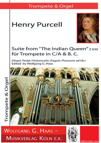 "Purcell,Henry,; Suite from ""The Indian Quenn"" (Z 630*) für Trompete in C / A, Orgel"