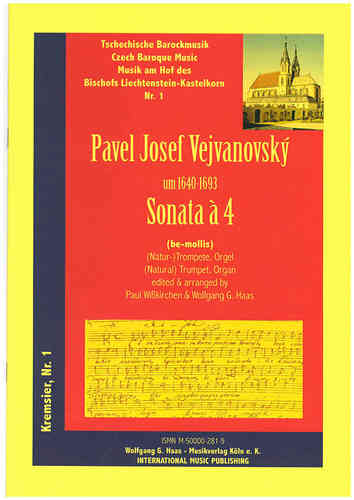 Vejvanovský, Pavel Joseph 1633c-1693; Sonata Á 4 in G minor for (natural) Trumpet C/B, Piano/Organ