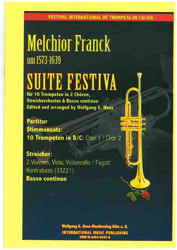 Franck, Melchior 1573c-1639 - Suite Festiva for 10 trumpets in 2 choirs, string orchestra