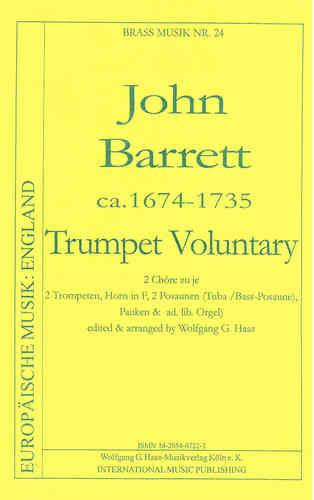 Barrett, John; Voluntary in C-Dur (Tentett), Pauken und Orgel