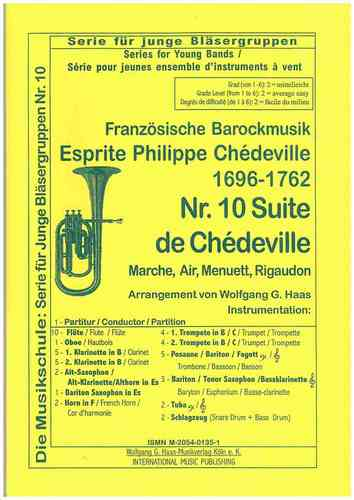 Chédeville, Esprit Philippe; Marche, Air, Menuett, Rigaudon; YOUNG BAND Nr. 10