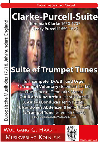 Clarke, Jeremiah 1673c-1707; - Purcell   Suite of Trumpet Tunes  Trompete (D/A/B), Orgel