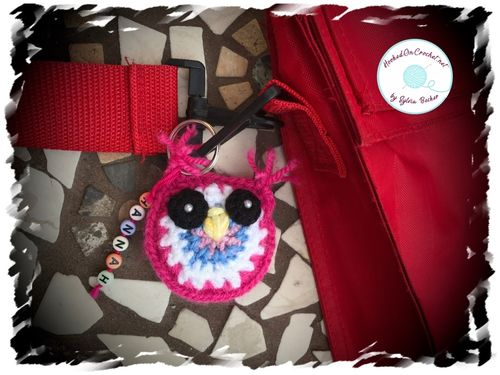 Back To School Personalised Owl Key Ring