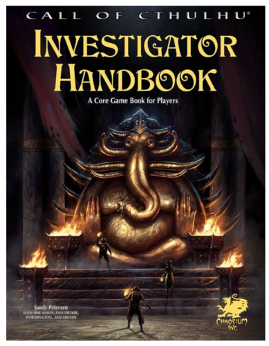 Call of Cthulhu RPG 7th edition Investigator Handbook