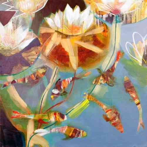 Copper Lilies by Becky Blair