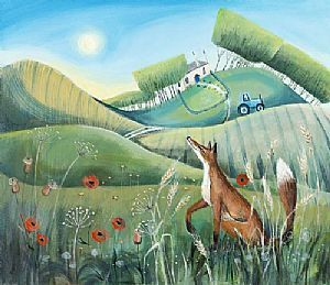 Fox In The Meadow by Carolyn Pavey