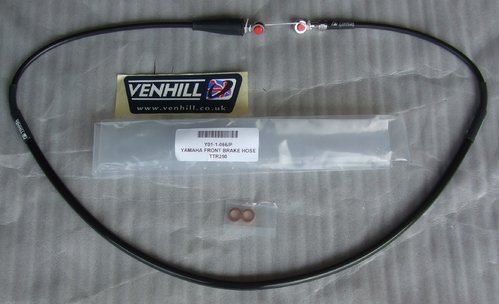 Brake Hose Front - black - Venhill - Long