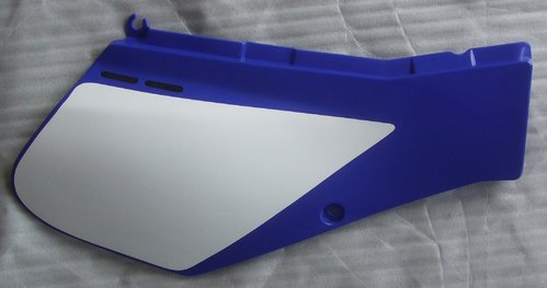Panel - blue - RH - Exhaust Side (Cover 2) - genuine Yamaha part