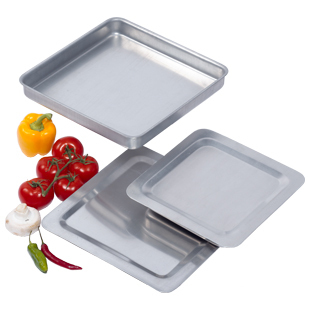 "Square 10"" pizza roasting baking pan"