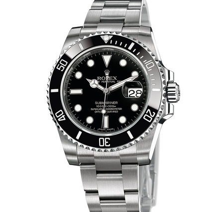 Gents Rolex Submariner with a black dial and stainless steel case and strap\\n\\n23/03/2016 16:25