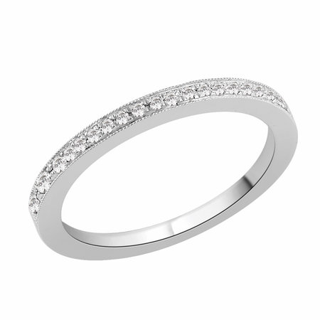 Pave set round brilliant cut diamonds with a millgrain border set in white gold\\n\\n11/03/2016 17:00