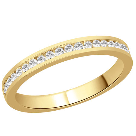 Channel set round brilliant cut diamonds in yellow gold eternity ring\\n\\n11/03/2016 16:59