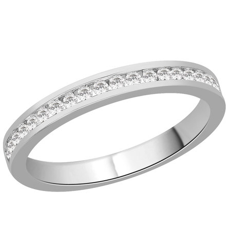Channel set round brilliant cut diamonds in white gold eternity ring\\n\\n11/03/2016 16:59