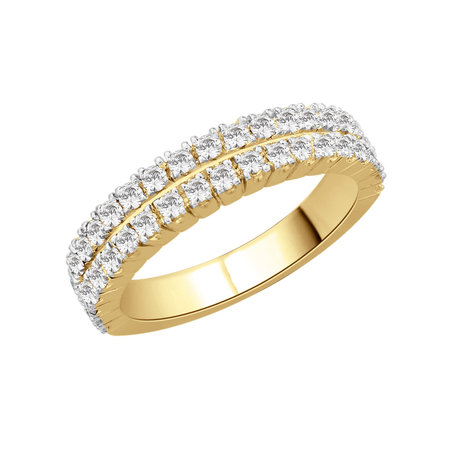 Double row claw set round brilliant cut diamonds set in yellow gold\\n\\n11/03/2016 16:59