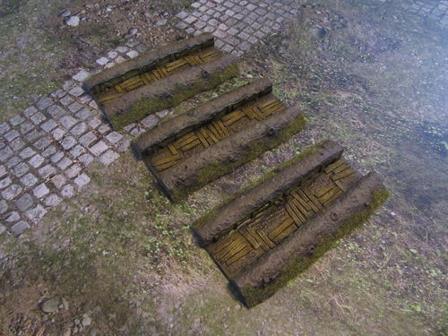 15mm WWII Trench Straights