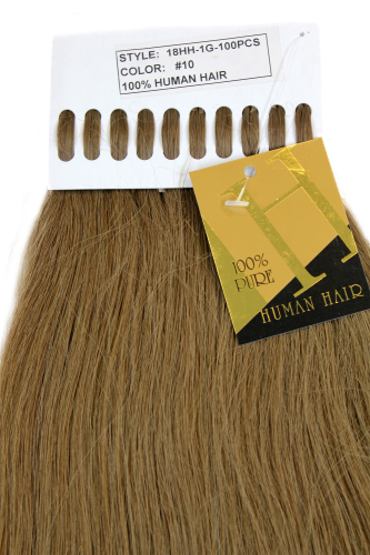 Echthaar Extensions Set 100x1g Blond 18HH-1G-10