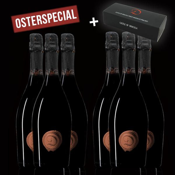 6 Flaschen Marsecco Rose Spumante Castle of Dracula - Osterspecial