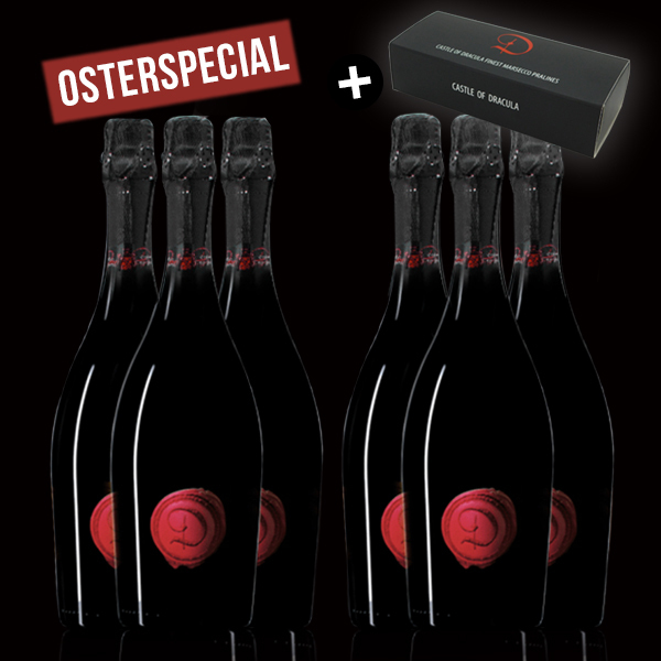 6 Flaschen Marsecco Red Spumante Castle of Dracula - Osterspecial