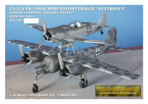 "Sprengstofftraeger ""Beethoven"", German Composite Aircraft, Resin Conversion Kit, 1/48"