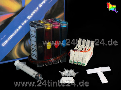 CISS kompatibel zu Epson Stylus Photo С67, С87 mit Patronen Nr. T0621/31 -T0634 inklusive 400 ml DYE Tinte