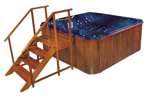 Spa Whirlpool, Jacuzzi Outdoorpool & Indoorpools 210x210cm 9 Super Jets Queenmary