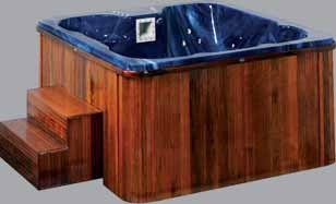 Spa Whirlpool Jacuzzi Outdoor Whirlpool & Indoorpools 210x210cm 64 Super Jets Queenmary