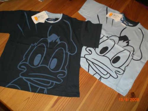 T-Shirt Donald Duck Gr. 92 - 98, 104 - 110 und 116 - 122