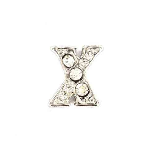 "Floating Charm Buchstabe ""X"""