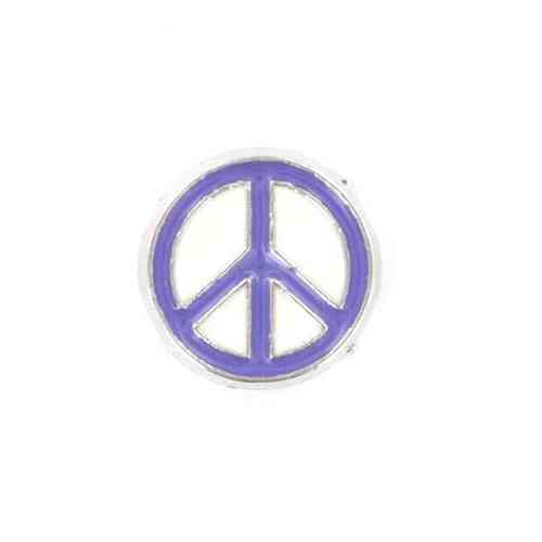 Floating Charm blaues Peace-Zeichen
