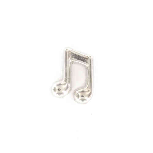 Floating Charm silberfarbene Noten