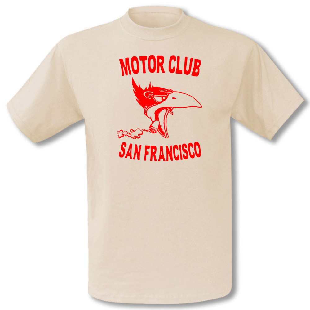 Vintage Motoor Club T-Shirt San Francisco Motorcyles Chopper Hot Rod in vintage white