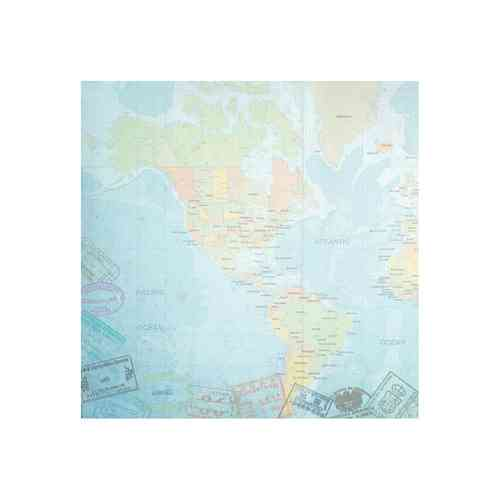 "Travel Paper 12""X12"" World Travel Western Hemisphere Map"