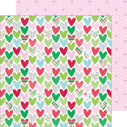 Holiday Hearts  - doppelseitiges Scrapbooking Papier