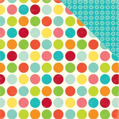 "Sweet Summertime Double-Sided Cardstock 12""X12"" Happy Spots"