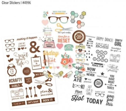 88 Clear Stickers -Simple Stories - Sn@p! Reset Girl