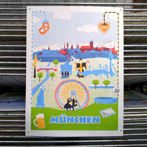MÜNCHEN (lovely cities #1 / blaue edition)