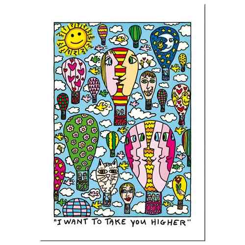 "James Rizzi Doppelkarte mit Umschlag ""I want to take you higher"""""