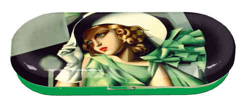 "Brillenetui ""Lempicka - Young lady with gloves"""