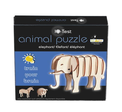 "3D-Animal-Puzzle, ""Elefant"", IQ-Test aus Holz"