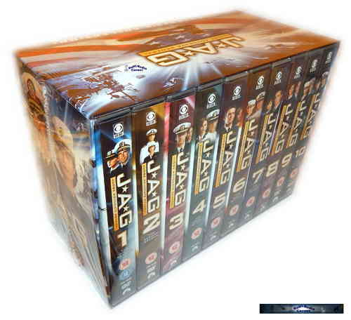 JAG Komplettbox - Staffel/Season 1,2,3,4+5+6,7,8,9+10 [DVD] 54-DVD