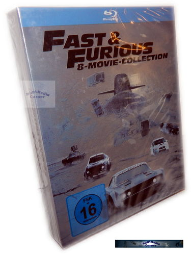Fast and the Furious 1,2,3,4,5,6,7,8 Movie Collection [Blu-Ray]