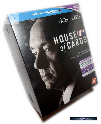 House of Cards - Die komplette Staffel 1,2,3,4 [Blu-Ray] Box-Set