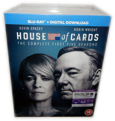 House of Cards - Die komplette Staffel 1,2,3,4,5 [Blu-Ray] Box-Set