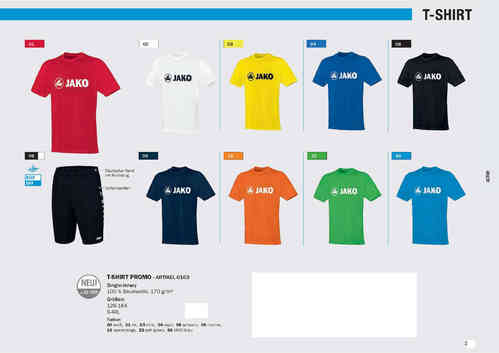 Jako T-Shirt Promo JR+SR 10er Set Mannschaft