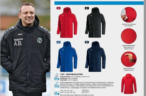 Jako Coachjacke Winterjacke Team Erw. 10er Set Mannschaft
