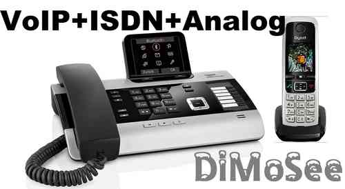 GIGASET DX800A Basis (VoIP, ISDN, Analog) all in one + 1 Mobilteil C430H