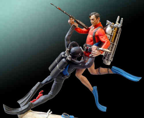 Figura James Bond Thunderball escena submarina